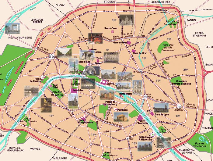 Contemporary And Historical Maps Of Paris France