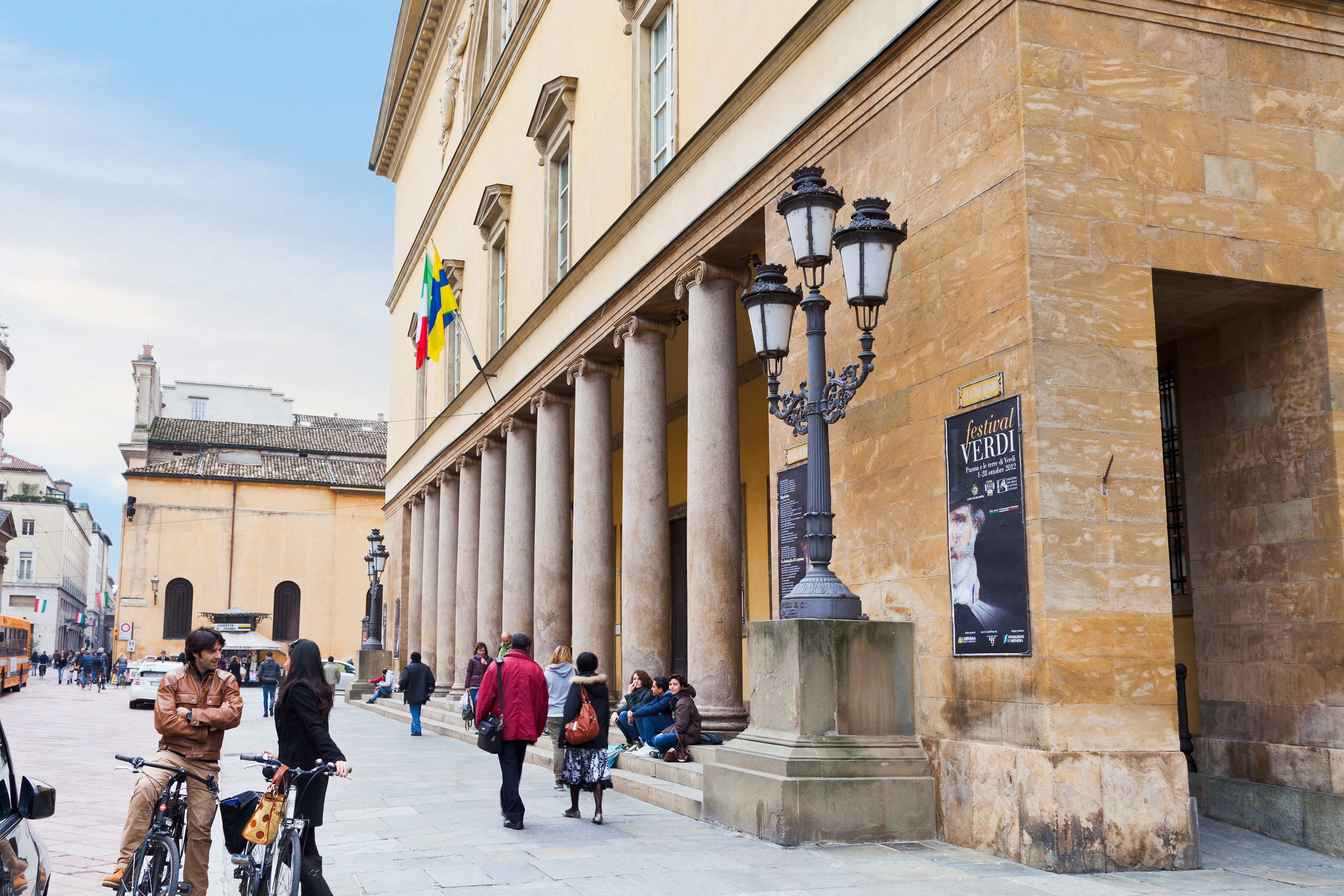 colonnade Teatro of Regio di Parma - opera house
