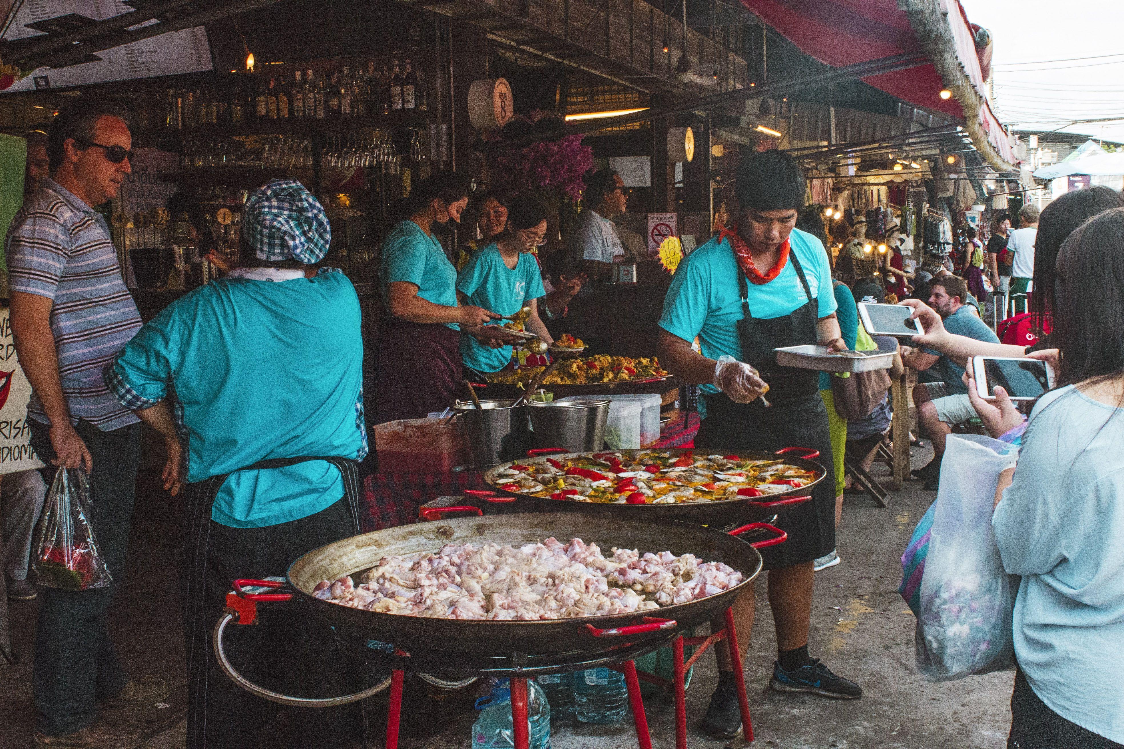 Street food at Chatuchak Market