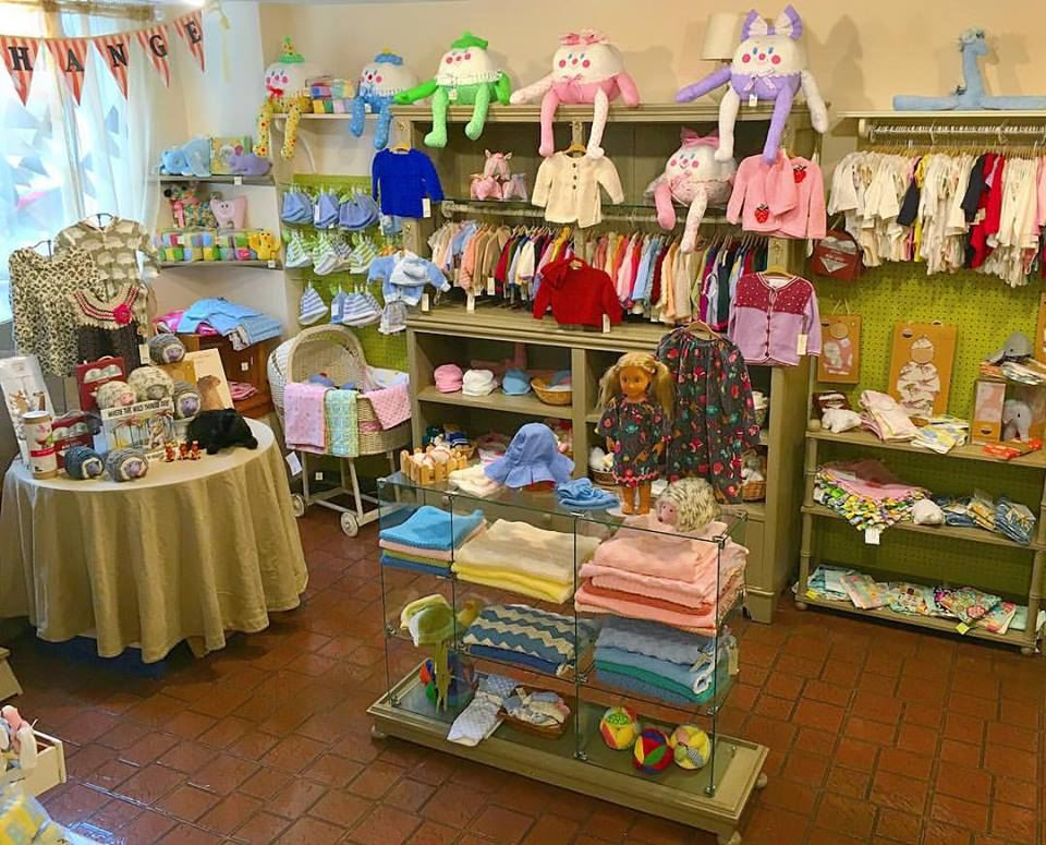a section of The Brooklyn Women's Exchange with children's items