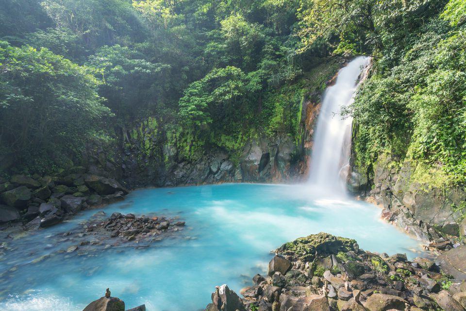 Rio Celeste waterfall, Tenorio volcano national park, Costa Rica