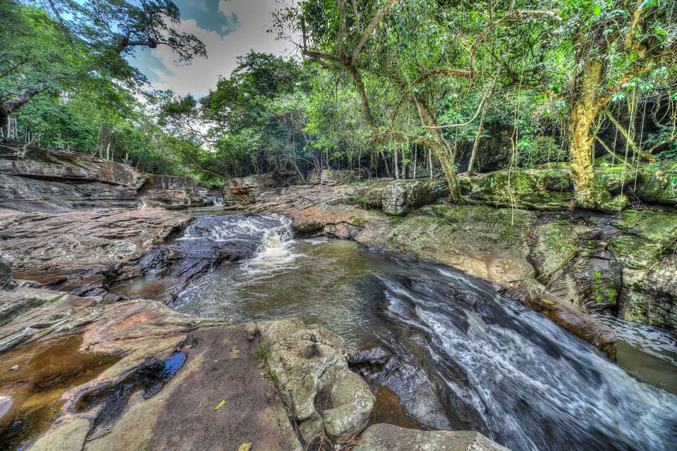 """The waterfall """"Salto Pai"""" in the Colonia Independencia in Paraguay."""