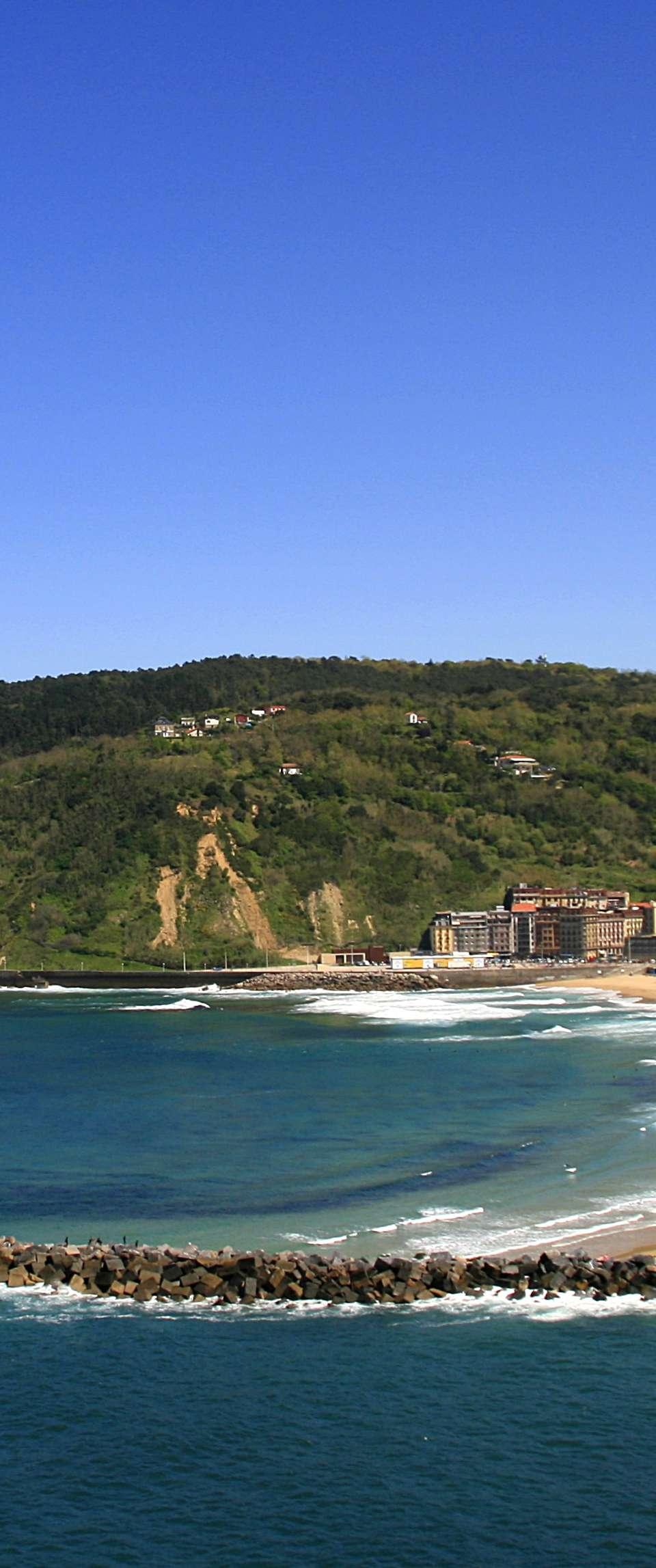A view of San Sebastian beach in Spain