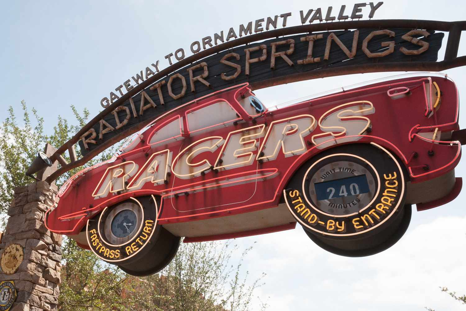 Entrance to Radiator Springs Racers in Cars Land at Disney California Adventure