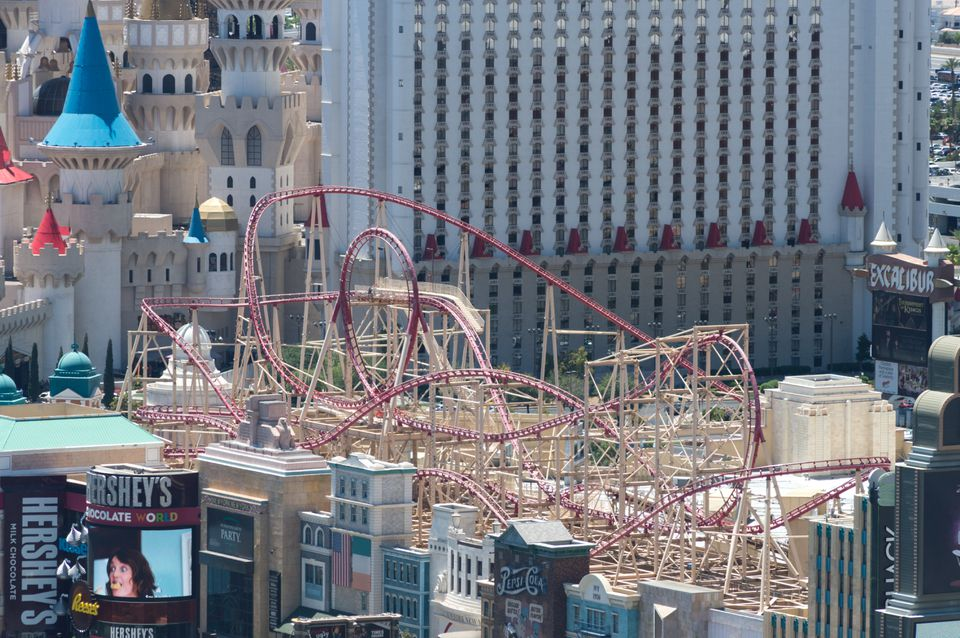The Lions Share Of Roller Coaster New York And Excalibur In