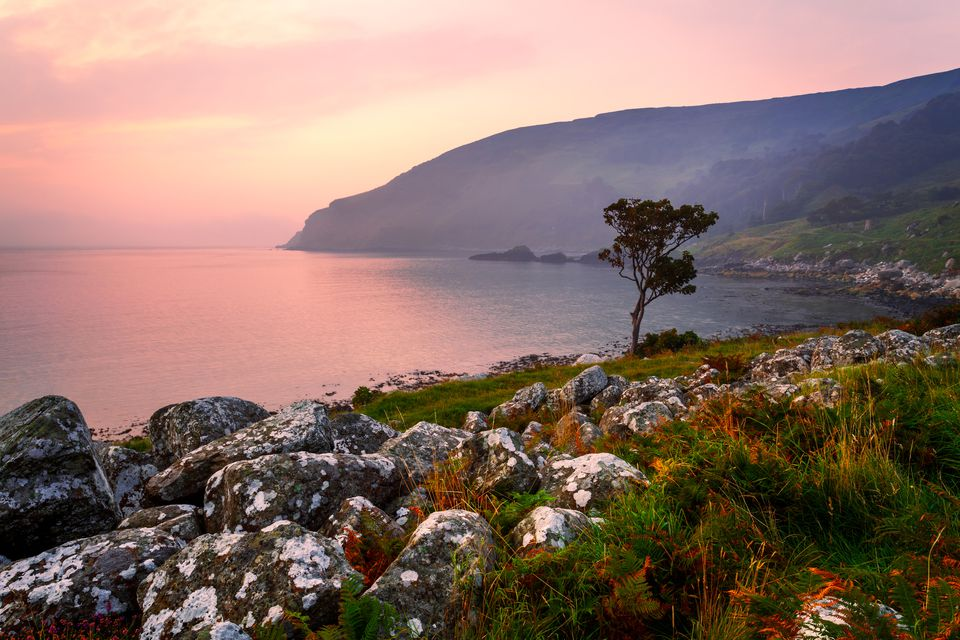 sunrise at Murlough Bay in County Antrim