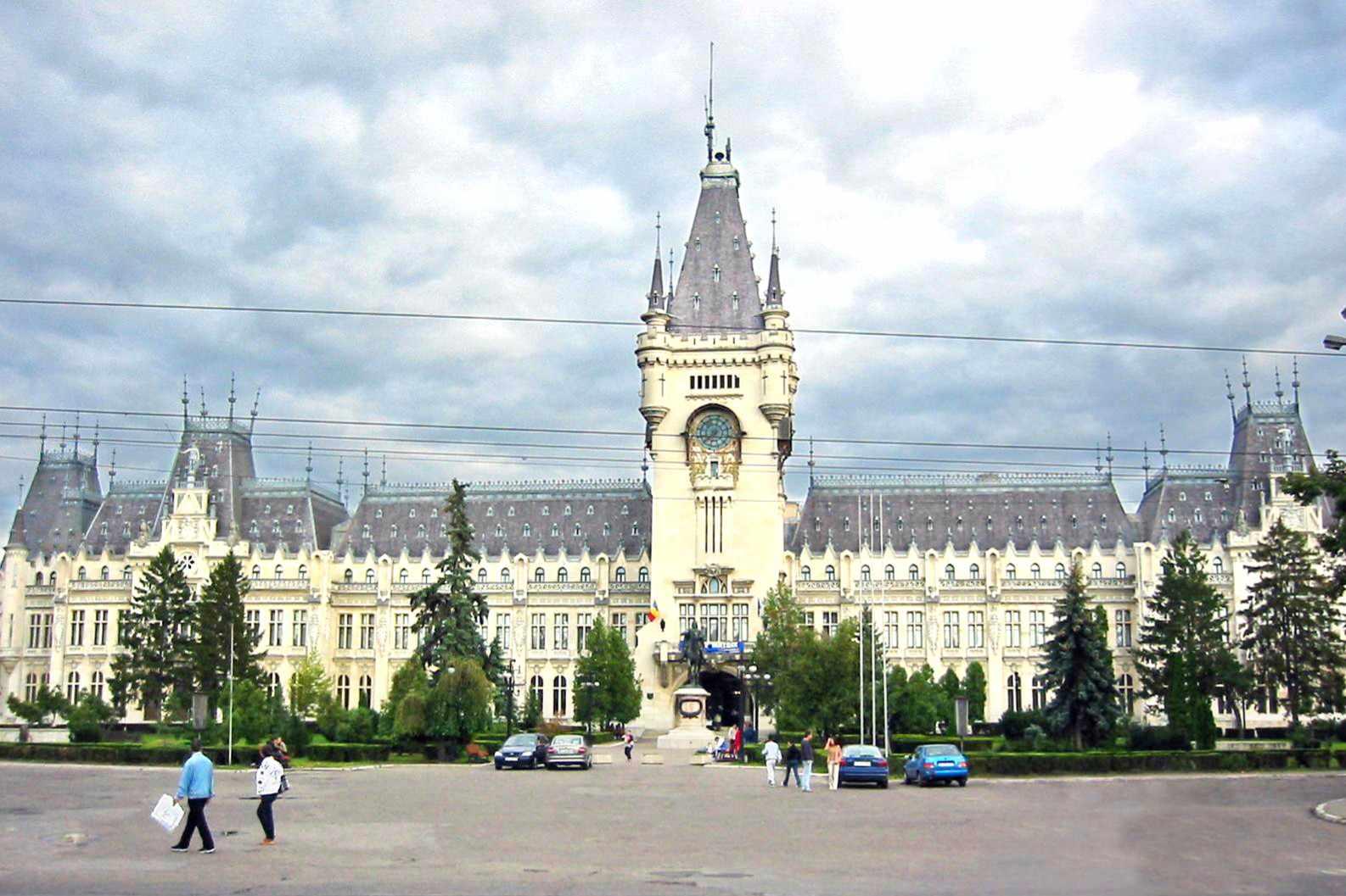 El Palacio Cultural en Lasi, Rumania