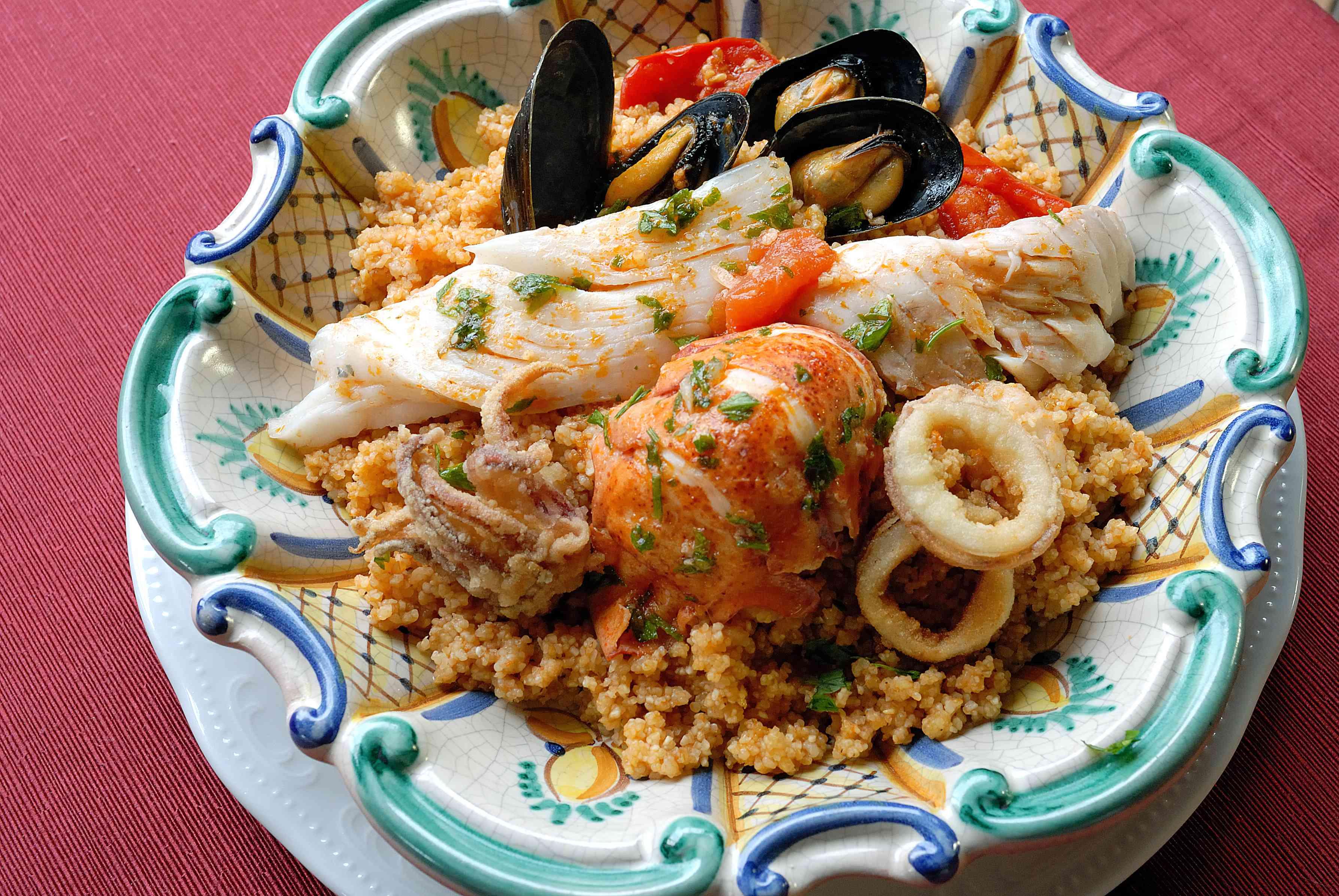Sicilan fish couscous