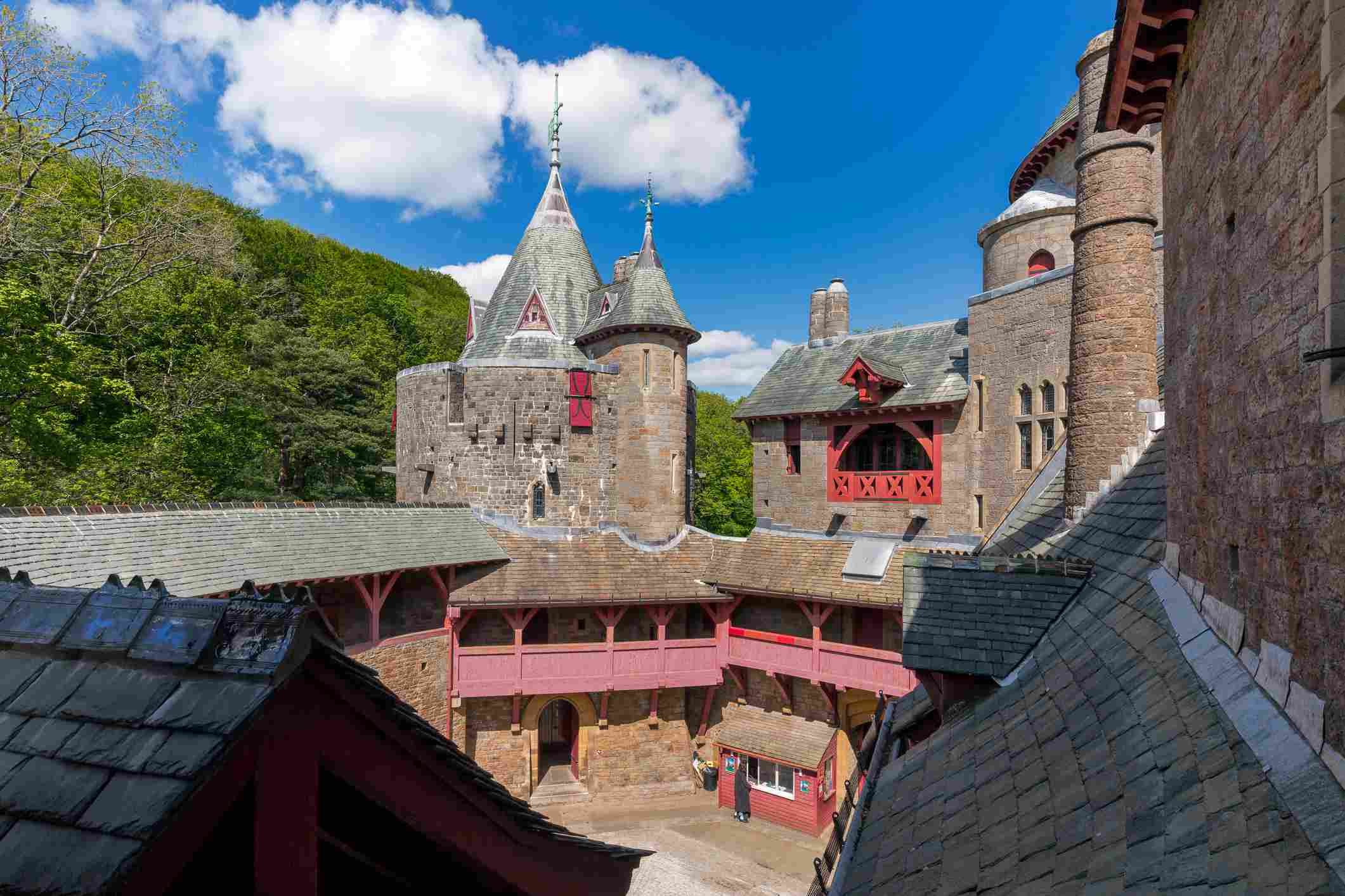 Castell Coch in Cardiff, Wales