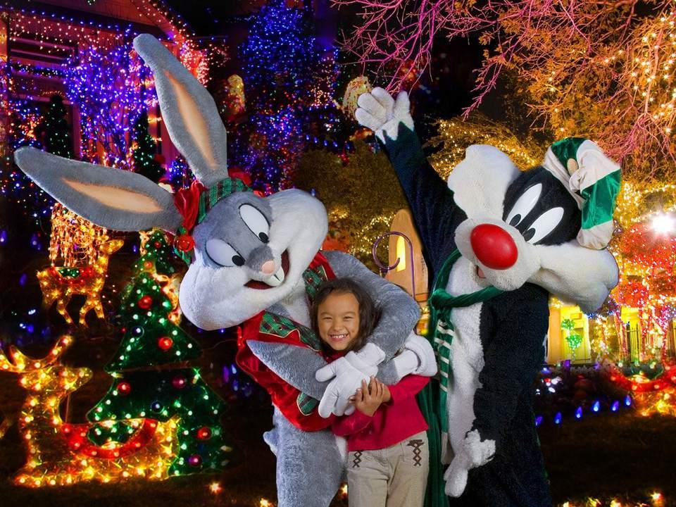 Six Flags America Holiday en el parque