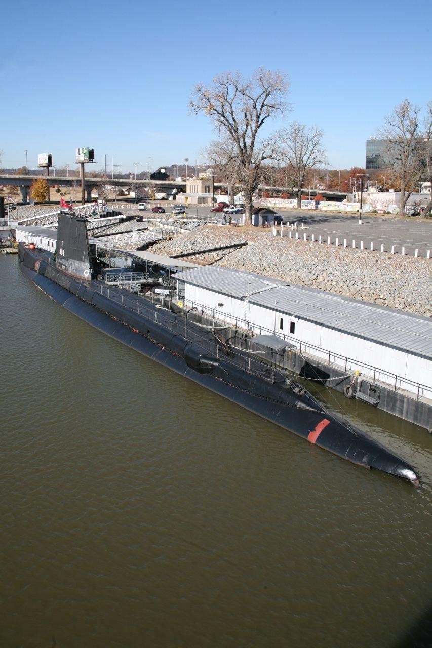 El USS Razorback en el Arkansas Inland Maritime Museum.