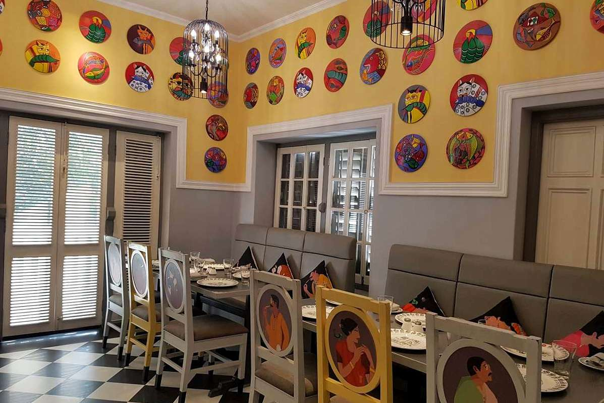 Colorful dining room of 6 Ballygunge Place