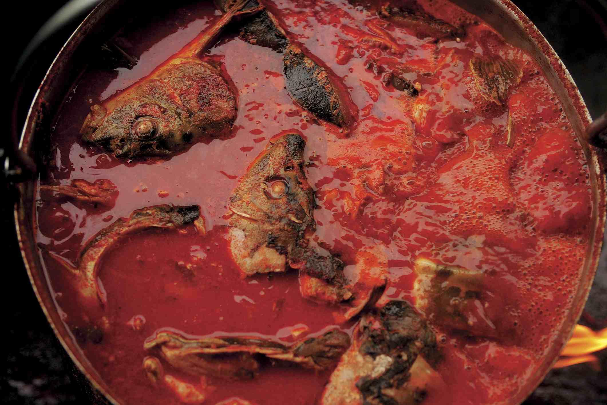 Fish stew, Baranja, Croatia