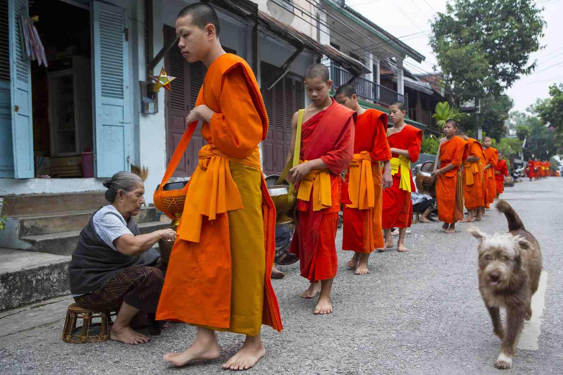Ritual de murciélagos Tak en Luang Prabang, Laos