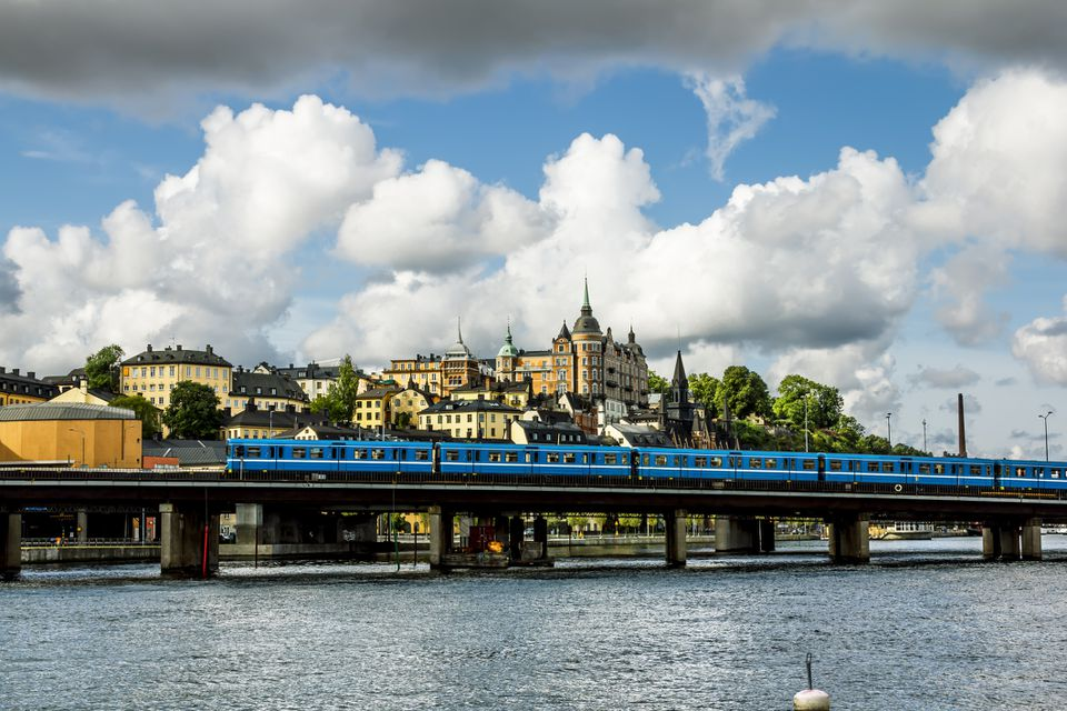 Train Leaving Stockholm