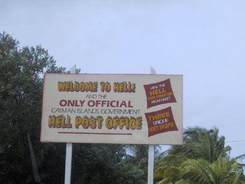 Hell on Grand Cayman Island