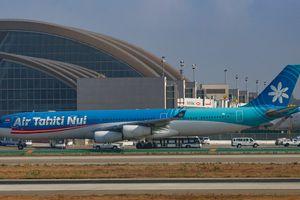 Air Tahiti Airbus A340 at Los Angeles International Airport