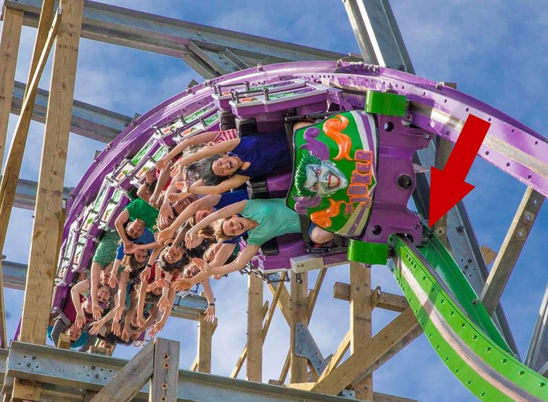Hybrid wooden steel coaster track