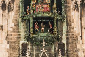 Glockenspiel in the Rathaus in Munich