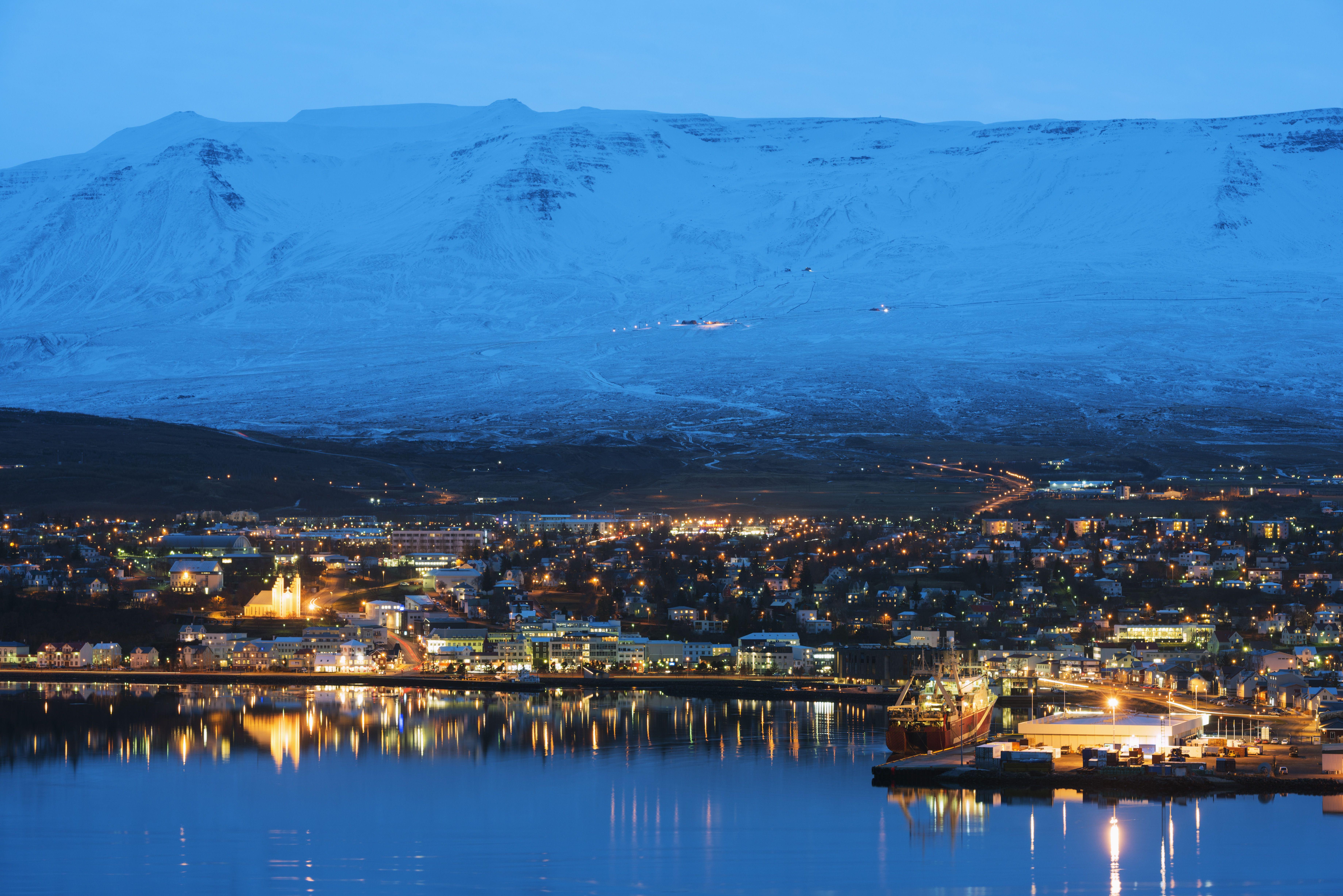 Akureyri waterfront, Iceland, Polar Regions