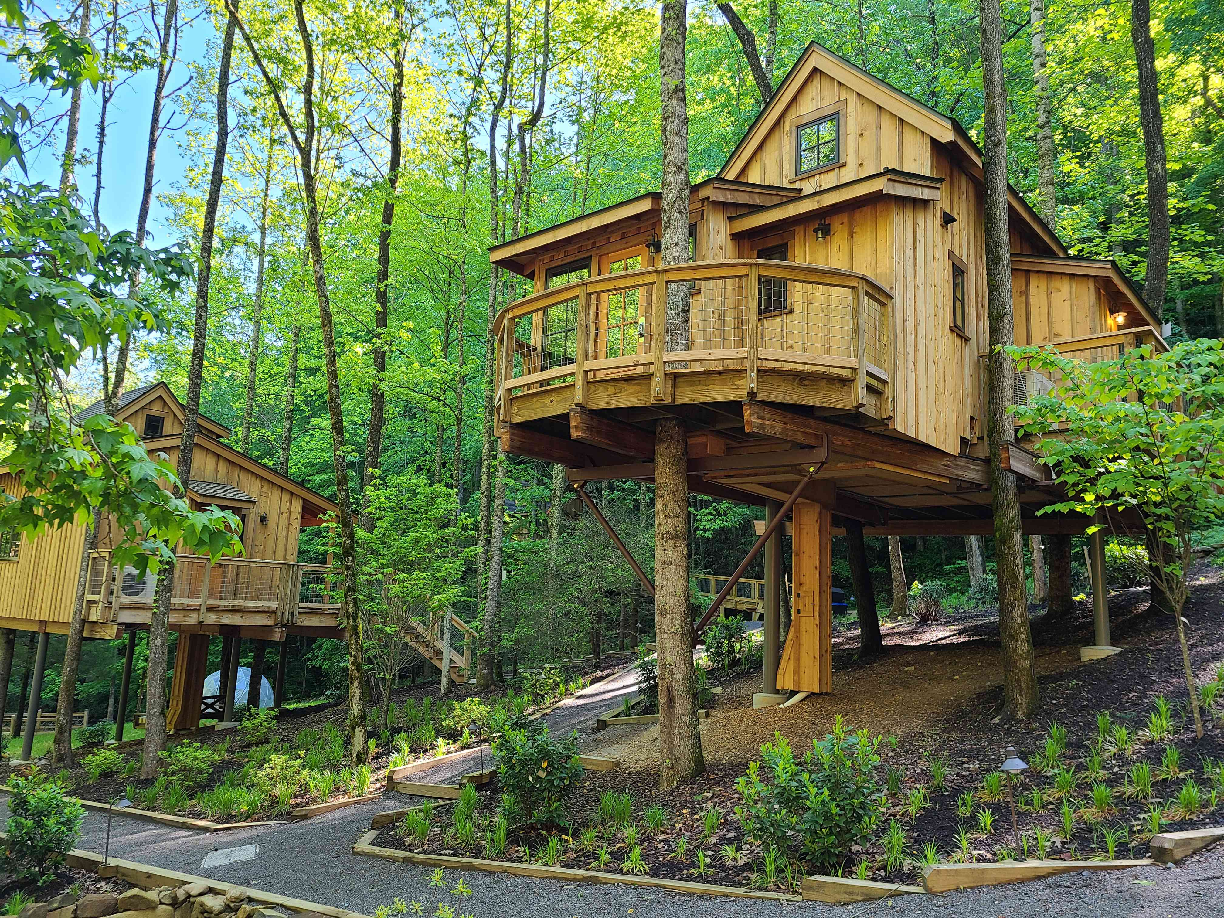 Treehouse accommodation at Treehouse Grove near Gatlinburg