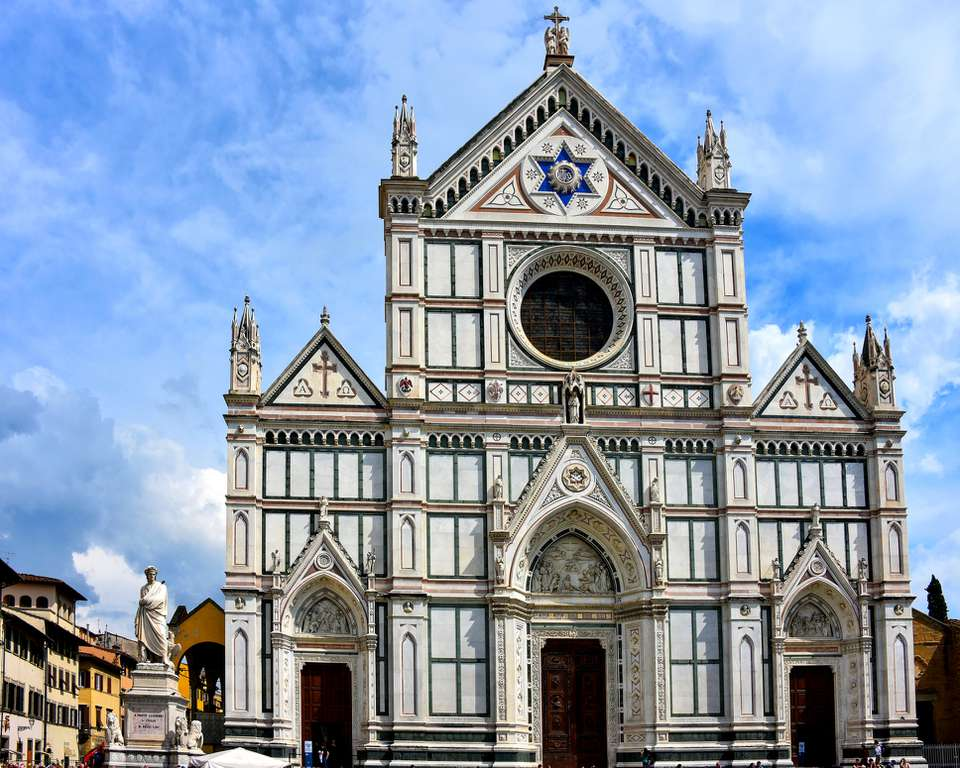 The Basilica di Santa Croce in Florence, Italy
