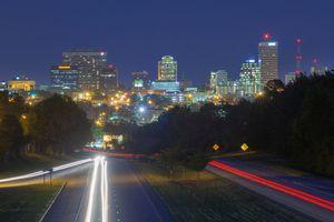 The skyline of Columbia, South Carolina.