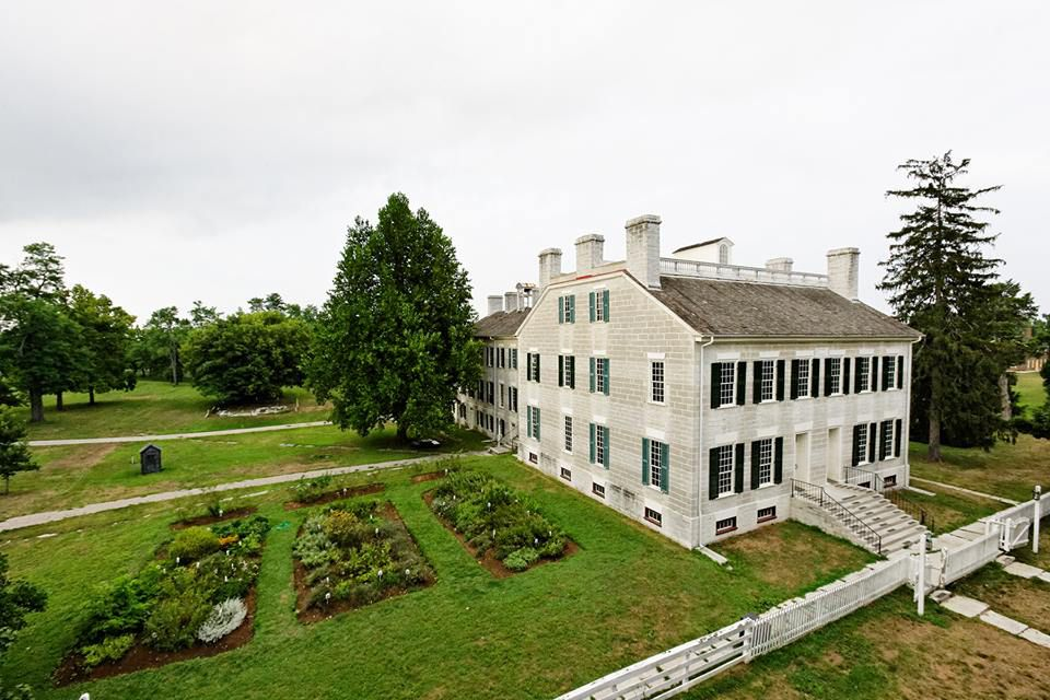 Aerial shot of Shaker Village of Pleasant Hill