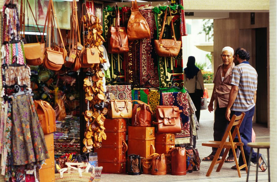 7e965352a1 Handbags and leather goods for sale in Arab Street, the Muslim centre of  Singapore