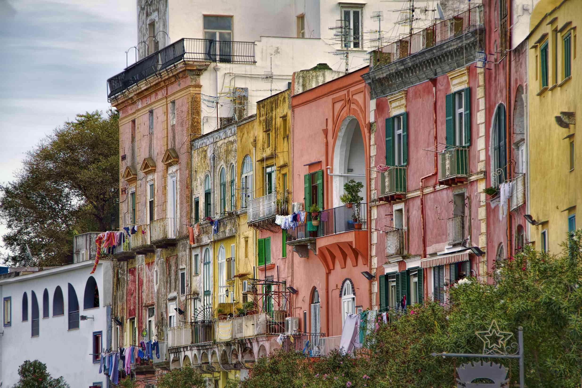 From Marina Grande, Procida, Bay of Naples, Italy