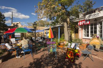 Albuquerque Old Town Street Scene Restaurants