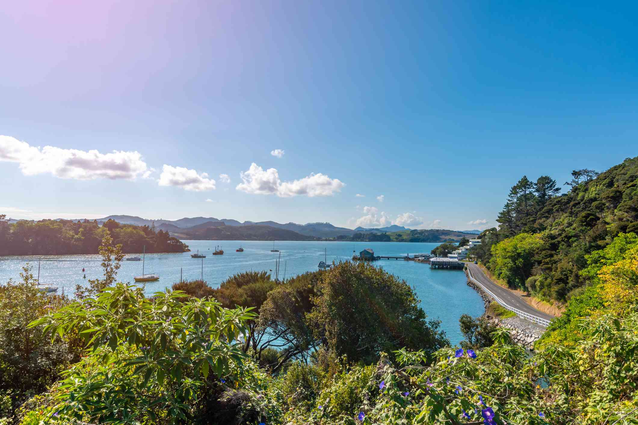 view of the historic Mangonui harbour in the far north of New Zealand
