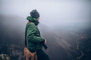 Photo of photographer on the mountain
