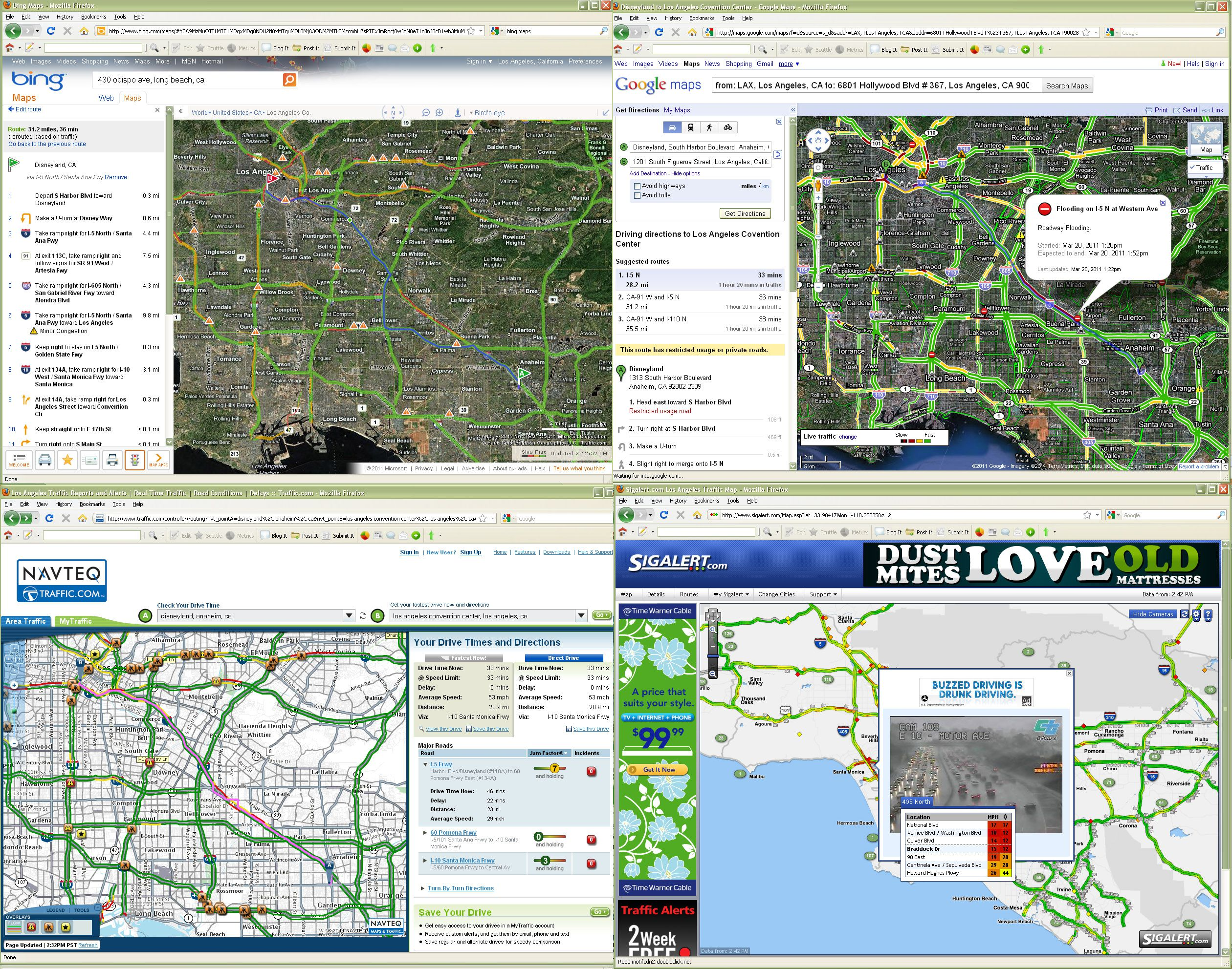 Best Los Angeles Traffic Maps and Directions Directions From And To With Map on