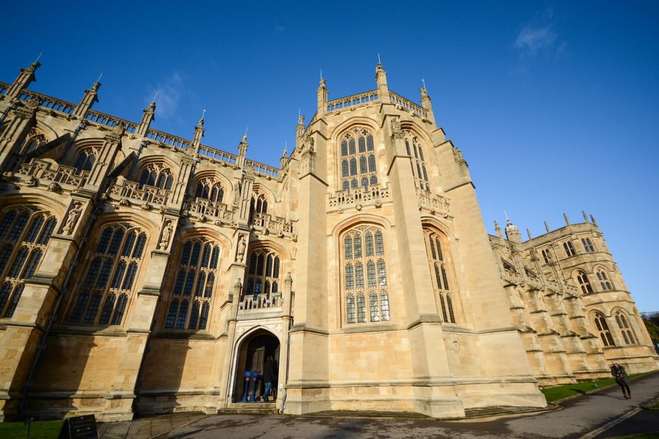 Exterior ornate facade of Windsor Castle