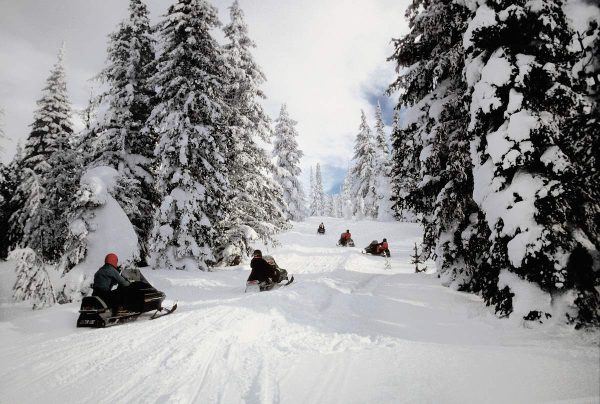 snowmobiling West Yellowstone