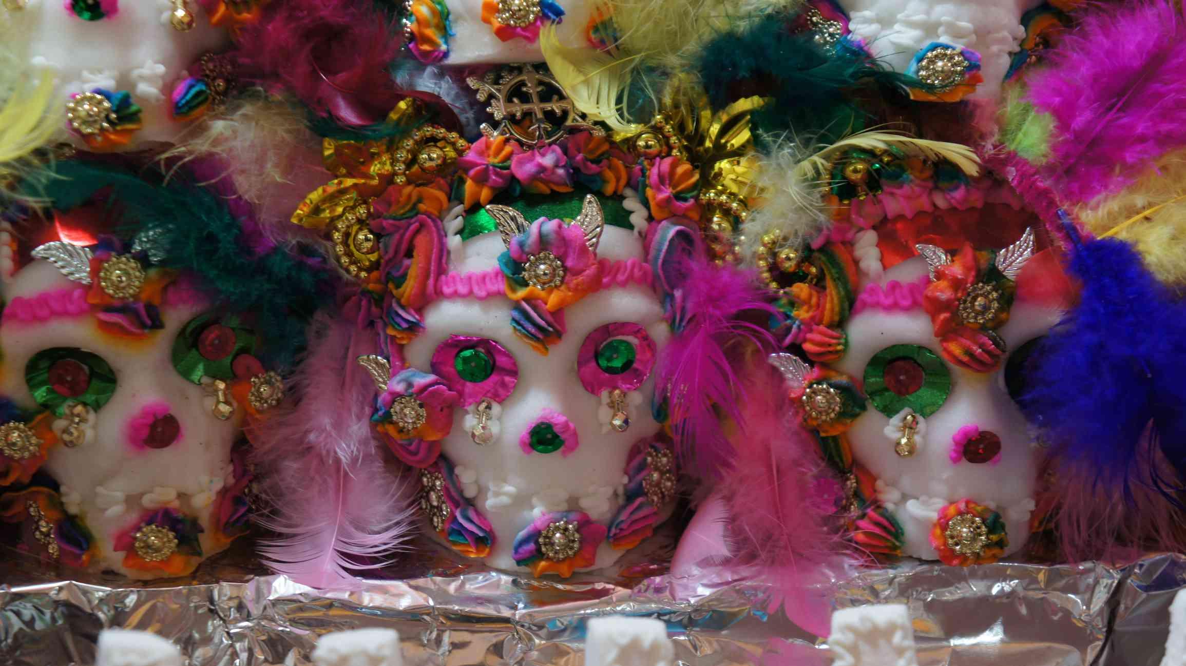Sugar skulls at the Feria del Alfeñique in Toluca, Mexico