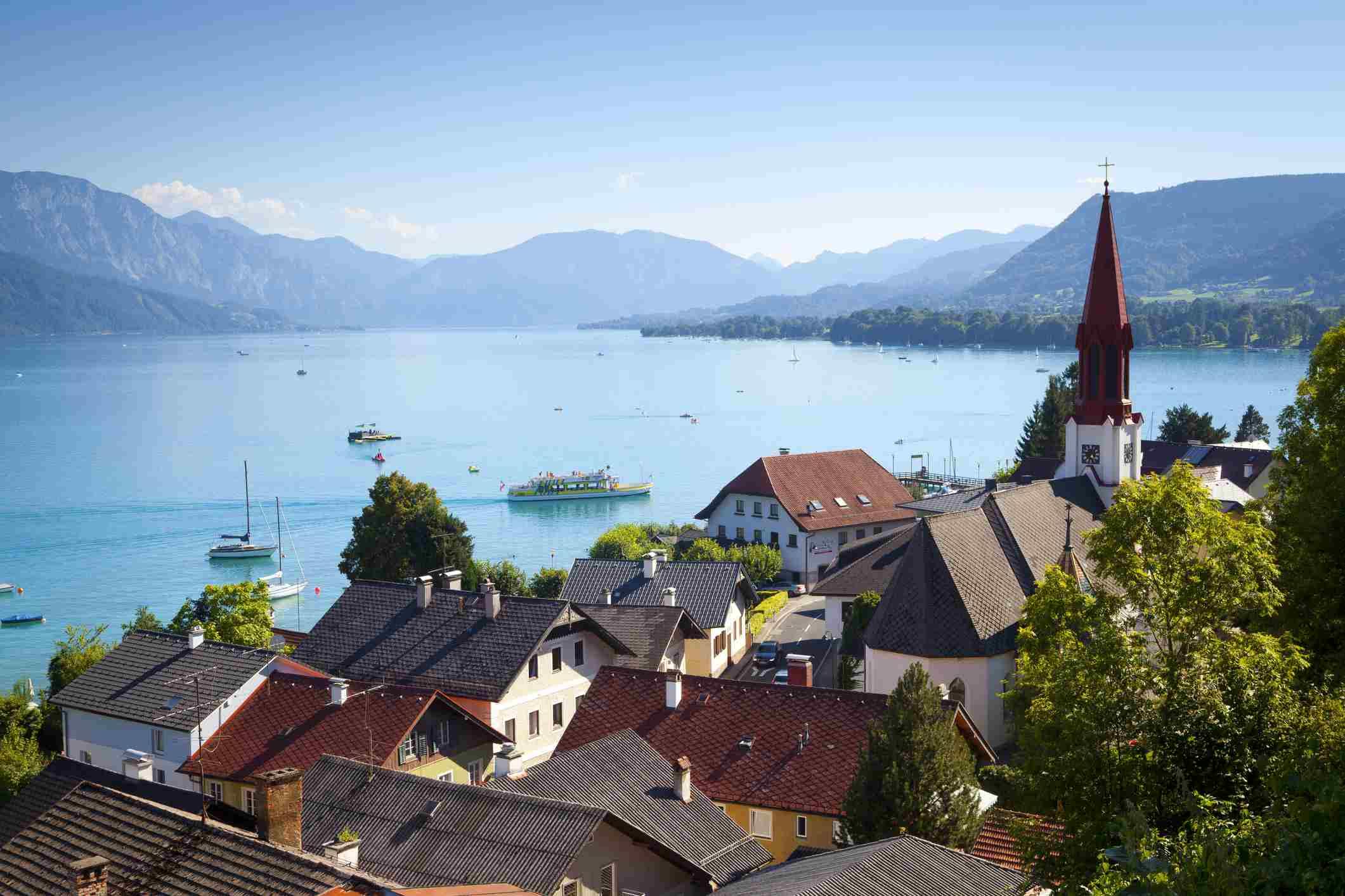 Austria, Salzkammergut, Lake Attersee