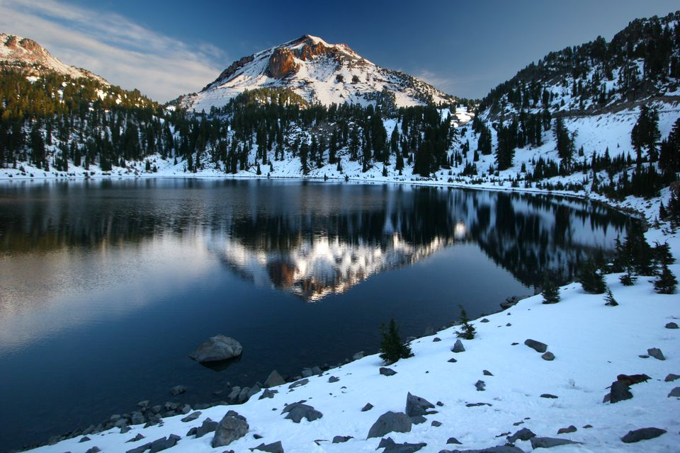 Lassen Peak in winter