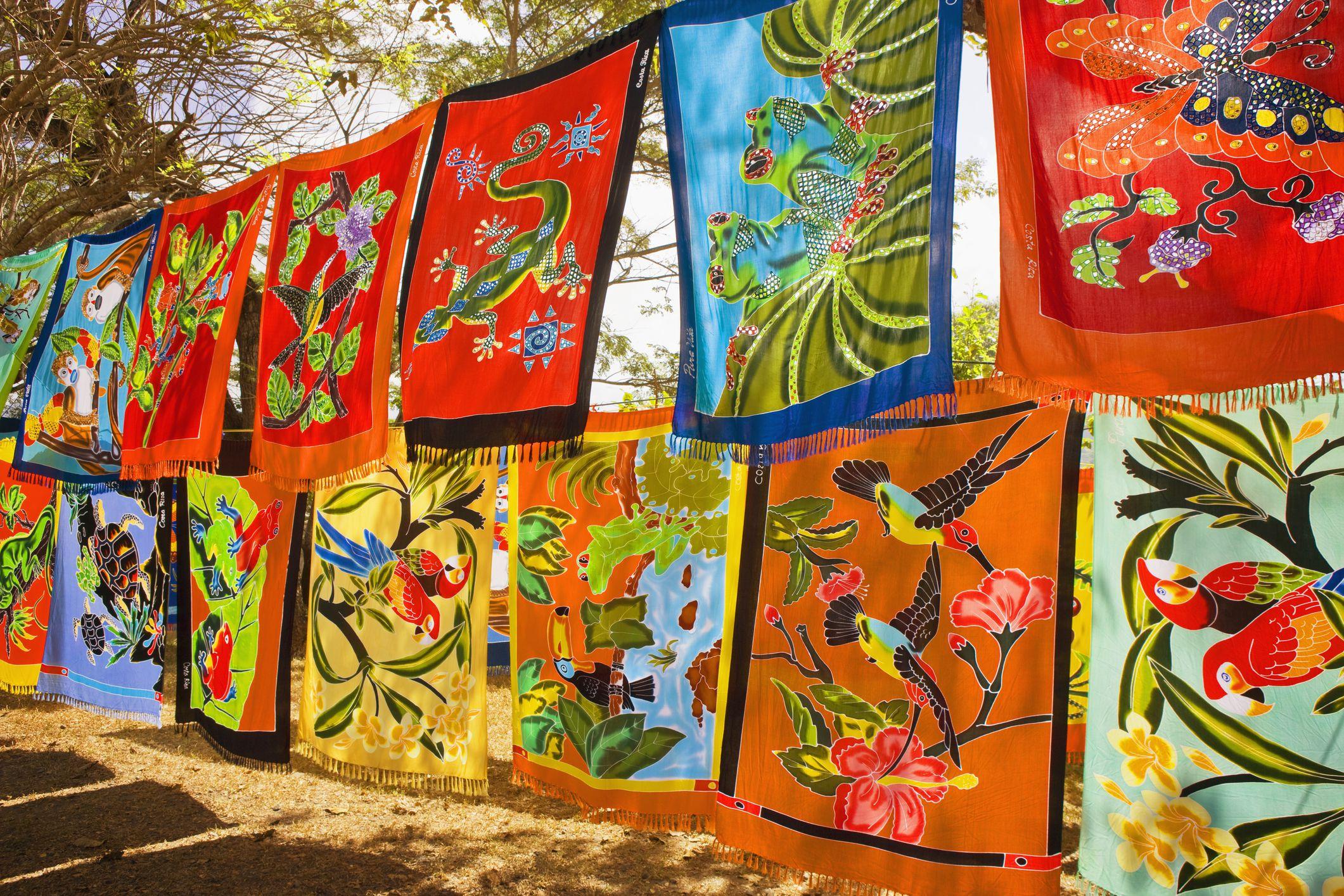 Caribbean Batik hanging in the breeze.