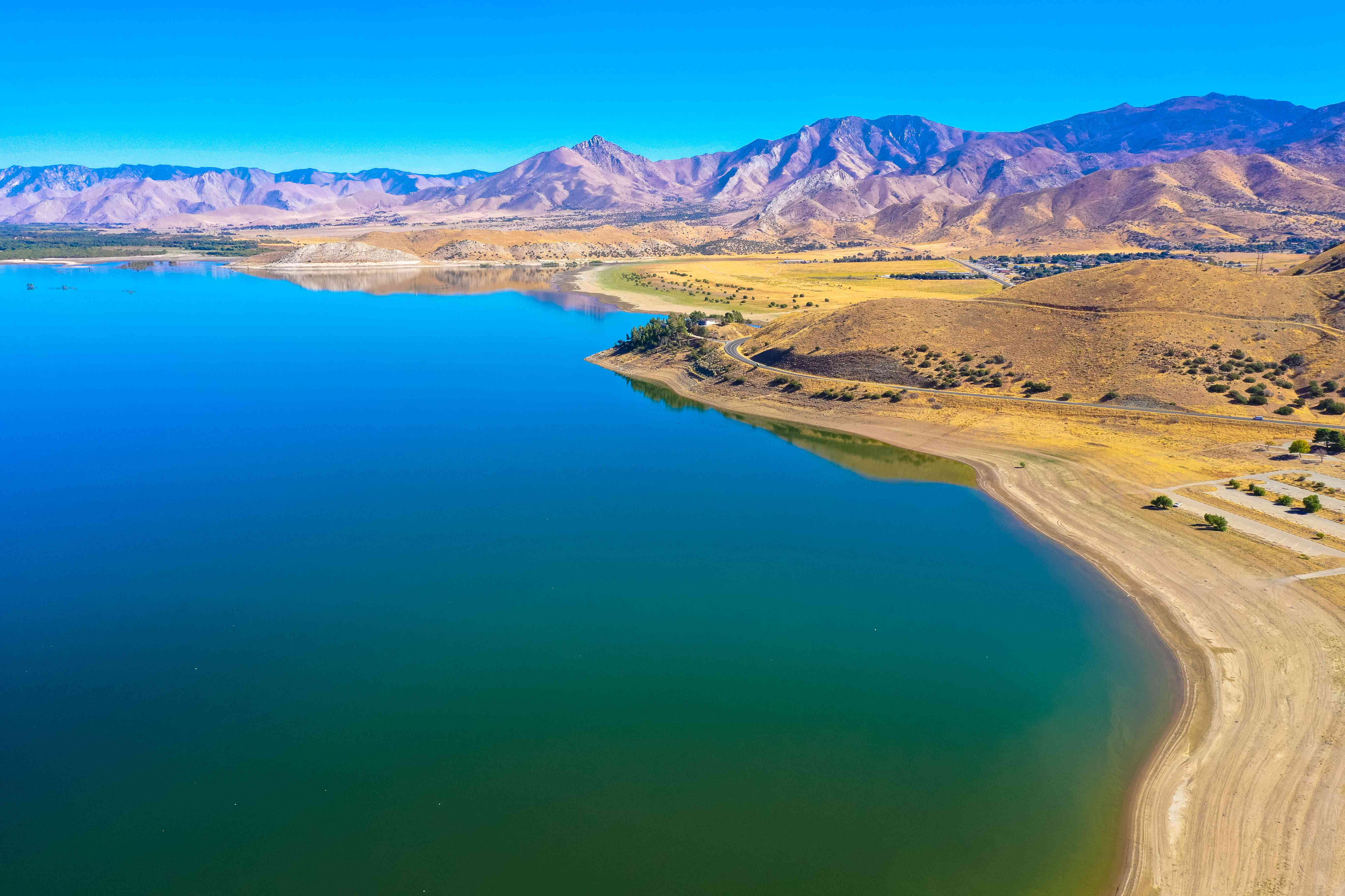 Aerial view, Isabella Lake in California
