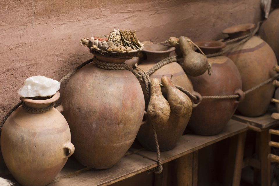 Clay jars used for storing chicha