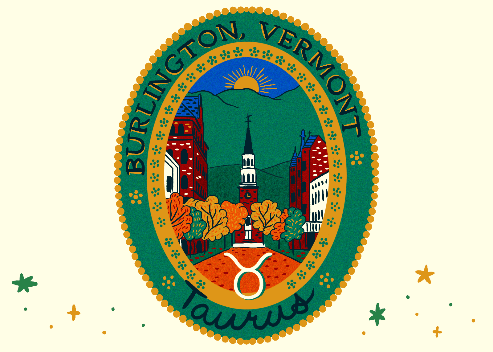 Illustration of Burlington, Vermont