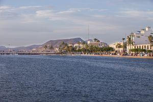 La Paz Malecon in Baja California Sur, Sea of Cortes. MEXICO