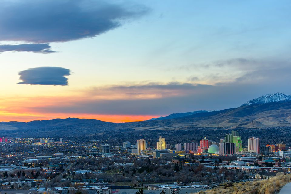 Dawn in Reno, Nevada