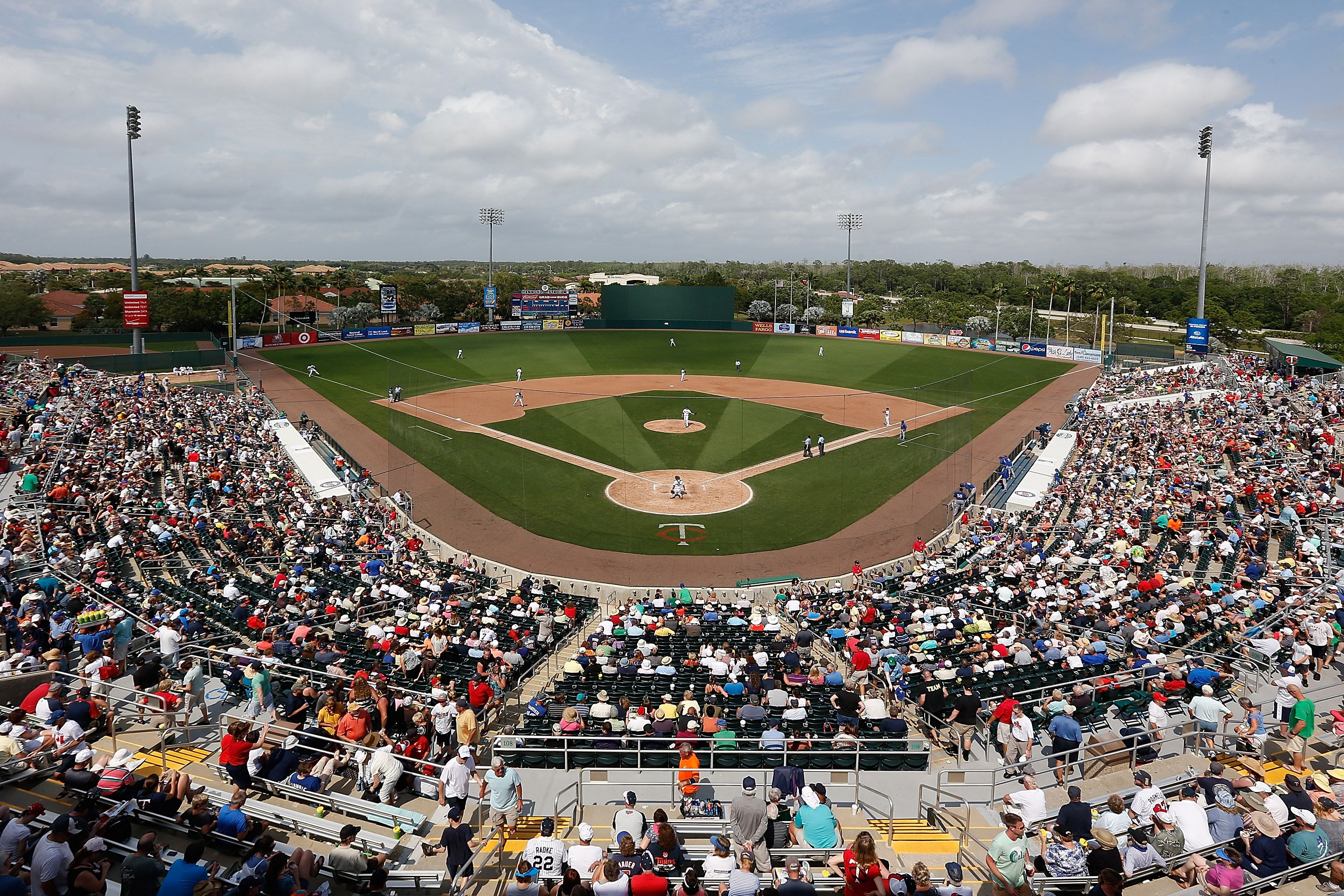 A general view of Hammond Stadium during a Grapefruit League Spring Training Game