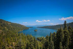 View of Emerald Bay, Emerald Bay State park, Lake Tahoe, California