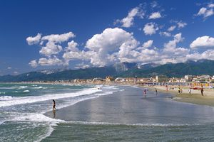 Beach Beside the Apuane Mountains