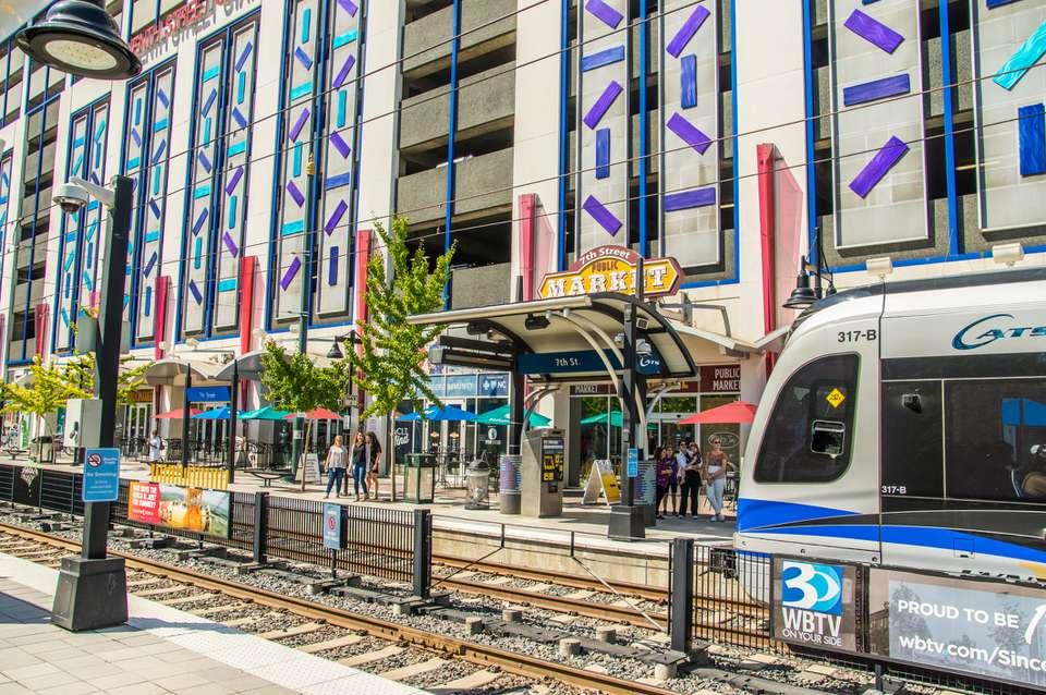 Lynx Blue Line light rail in Charlotte, NC