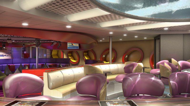 Teen Club, Vibe, on the Disney Dream - Photo courtesy of Disney Cruise Line.